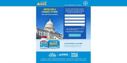 Bayer Healthcare-Aleve Sweepstakes