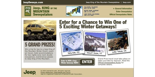 Jeep-King of the Mountain Sweeps