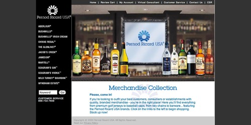Pernod Ricard-Merchandise Selection
