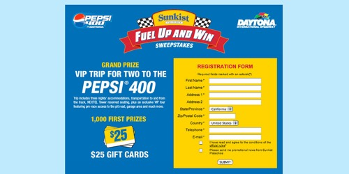 Sunkist Pistachios-Fuel Up and Win