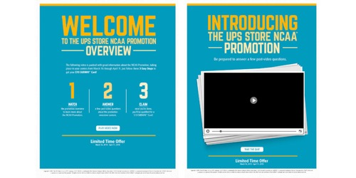 The UPS Store-NCAA Promotion