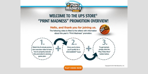 The UPS Store-Print Madness 2012
