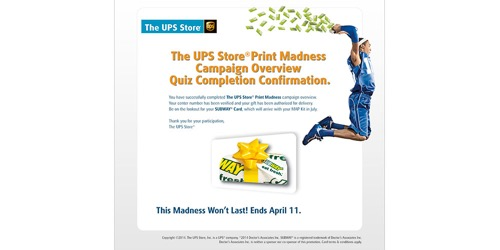 The UPS Store-Print Madness 2014