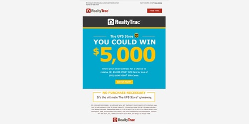 The UPS Store-RealtyTrac Sweepstakes