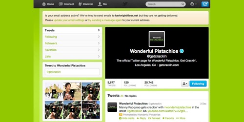 Wonderful Pistachios-Get Crackin&rsqwuo; Twitter Contest